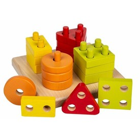 CUBIKA 13791 Třídíme tvary I - dřevěná skládačka 17 dílů
