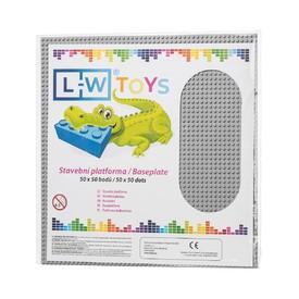 L-W TOYS Základová deska 50 x 50 světle šedá