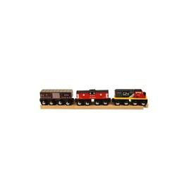 Dřevěná vláčkodráha Bigjigs - CN nákladní vlak + koleje - sleva