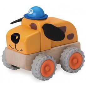 Wonderworld Dřevěné policejní autíčko pes
