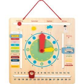 Small Foot Edukativní kalendář s hodinami německý