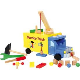 Small Foot Dřevěné auto s nářadím nákladní vůz Kidswork