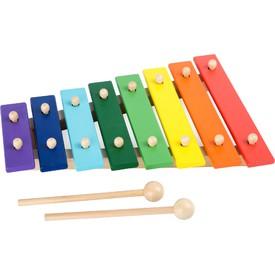 Small Foot Dřevěný xylofon barevný 8 not