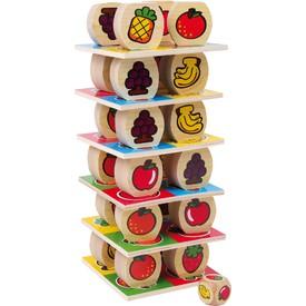 Small Foot Dřevěné hračky ovocná věž