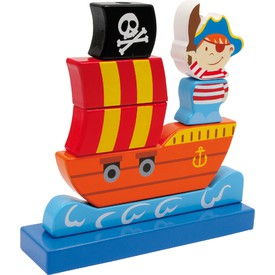Small Foot Dřevěná nasouvací pirátská loď