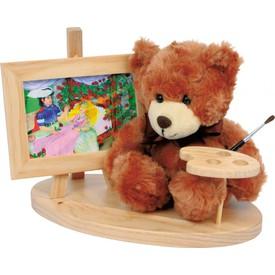 Small Foot Dřevěný dekorativní stojánek s medvídkem