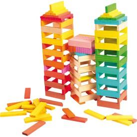 Small Foot Dřevěné stavební kostky barevné 150ks