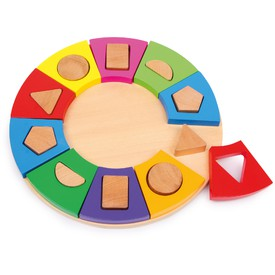 Small Foot Dřevěné puzzle třídění tvarů