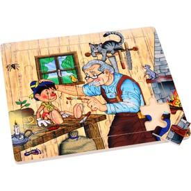 Small Foot Dřevěné puzzle Geppettův ateliér
