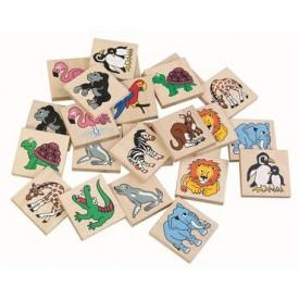 Dřevěné hračky - dřevěné hry - Pexeso ZOO