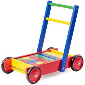 Tidlo vozíček s ABC kostkami