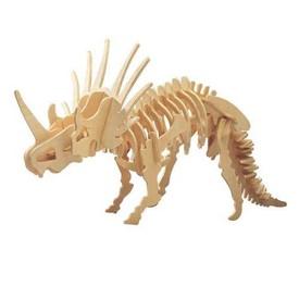 Woodcraft Dřevěné 3D puzzle velký Styracosaurus