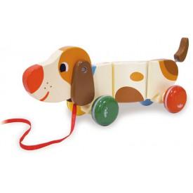 Dřevěná hračka Vilac - dřevěný tahací pejsek