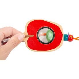 Small Foot Badatelský nástroj Caterpillar 1 ks červená lupa