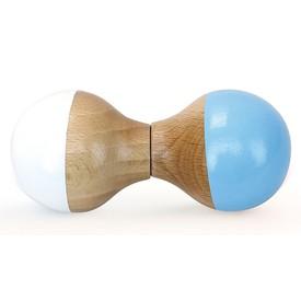 Vilac Dřevěné chrastítko bílo modré