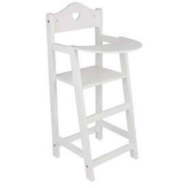 Small Foot Dřevěná židlička pro panenky bílá poškozený obal