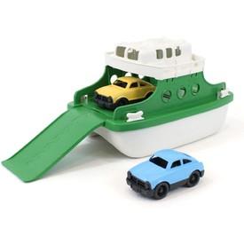 Green Toys Trajekt s auty zeleno bílý
