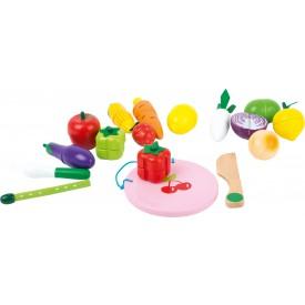 Small Foot Dřevěný set ovoce a zelenina