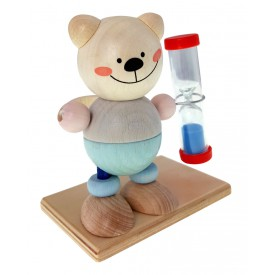 Hess Přesýpací hodiny medvídek pro měření doby čištění zubů