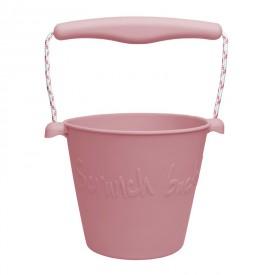 Scrunch silikonový kbelíček starorůžový
