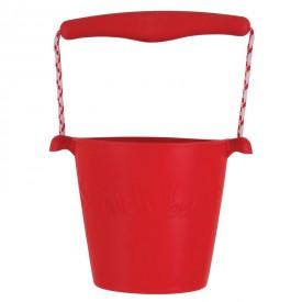 Scrunch silikonový kbelíček červený