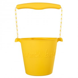 Scrunch silikonový kbelíček žlutý