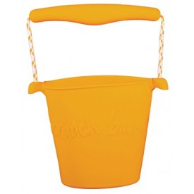Scrunch silikonový kbelíček hořčicový