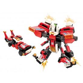 """Qman Guardian of Star´s Core 3102-1 Závodní auto """"Scarlet Wings"""" 2v1"""