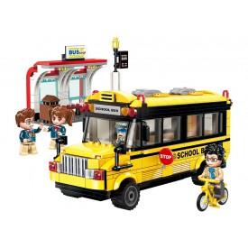 Qman Colorful City 1136 Školní autobus