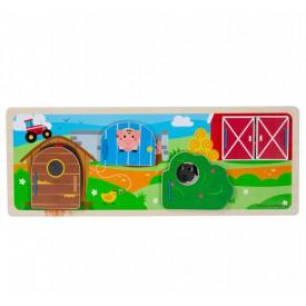 Bigjigs Toys Senzorické puzzle farma