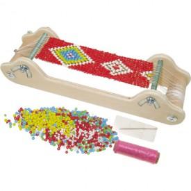 Small Foot Dřevěný perličkový tkalcovský stav - poškozený obal
