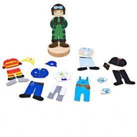 Bigjigs Toys Magnetické oblékací puzzle profese