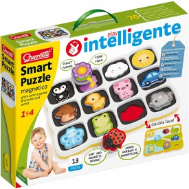 Quercetti Smart Puzzle magnetico first colors and words