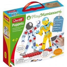 Quercetti Puppets nuts a bolts puppets postavičky se šroubky a matičkami