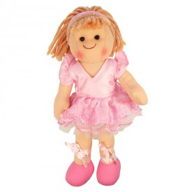 Bigjigs Toys Látková panenka Lily 28 cm
