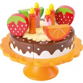 Small Foot Dřevěný narozeninový ovocný dort - poškozený obal
