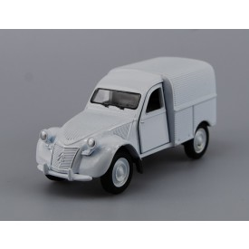Welly Citroen 2CV Fourgonnette model 1:34 stříbrná
