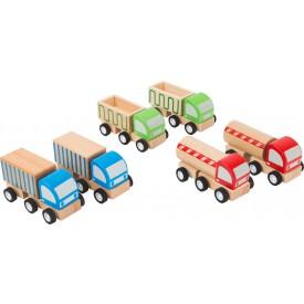 Small Foot Dřevěný náklaďák 1ks modrá
