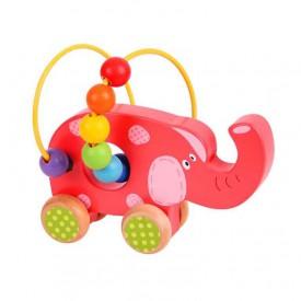 Bigjigs Baby Motorický labyrint slon - poškozený obal