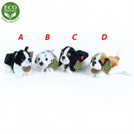 Rappa Plyšový pes ležící se zvukem 4 druhy 15 cm ECO-FRIENDLY 1ks -  A