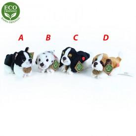 Rappa Plyšový pes ležící se zvukem 4 druhy 15 cm ECO-FRIENDLY 1ks -  B