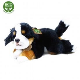 Rappa Plyšový pes ležící 30 cm ECO-FRIENDLY1 ks černý