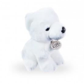 Rappa plyšový medvěd 18 cm 1 ks bílý