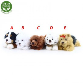 Rappa Plyšový pes ležící 17 cm ECO-FRIENDLY 1 ks - D