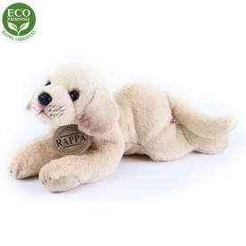 Rappa Plyšový pes ležící 16 cm ECO-FRIENDLY 1 ks béžový