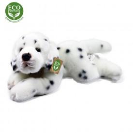 Rappa Plyšový pes ležící 30 cm ECO-FRIENDLY1 ks bílo - černý