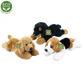 Rappa Plyšový pes ležící 18 cm ECO-FRIENDLY 1 ks černý