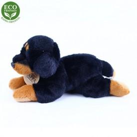Rappa Plyšový pes ležící 16 cm ECO-FRIENDLY 1 ks černý