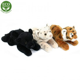 Rappa Plyšová šelma ležící 3 druhy 20 cm ECO-FRIENDLY 1 ks leopard
