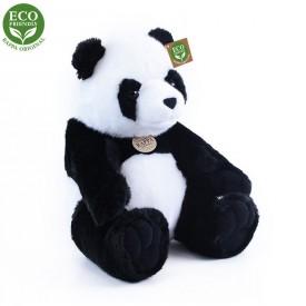 Rappa Plyšová panda sedící 31 cm ECO-FRIENDLY